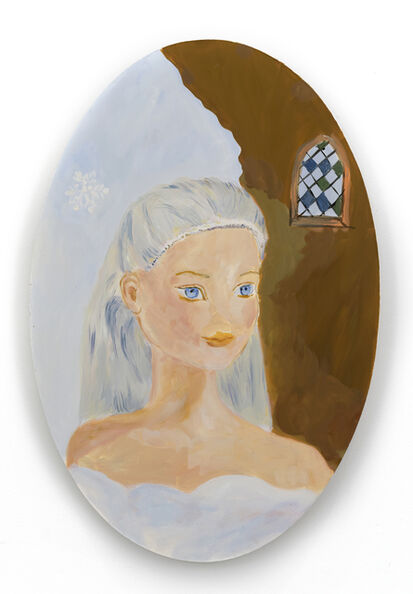 Karen Kilimnik, 'Cinderella at Rapunzel's castle in her snowy cloud outfit', 2009