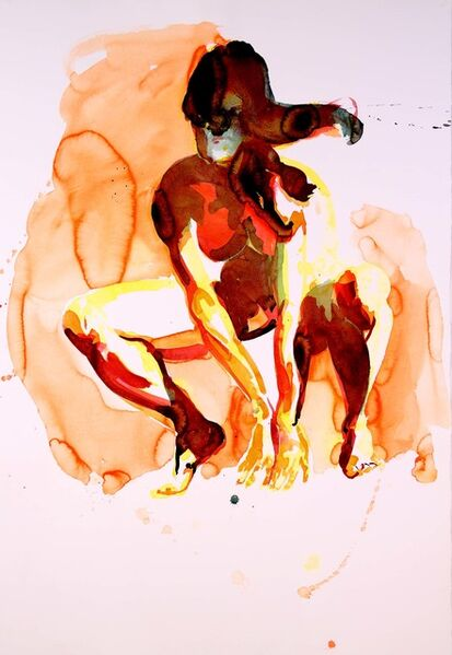 Eric Fischl, 'Crouching Woman', 2012