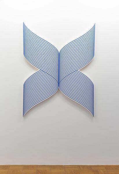 Philippe Decrauzat, 'X wave (reverse)', 2018