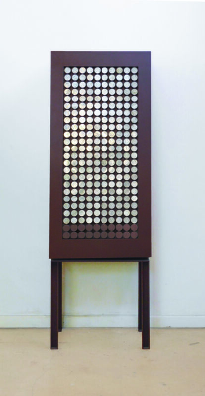 Pilar Climent, 'Cabinet with Selenite Circles', Design/Decorative Art, Iron furniture with selenite, PILAR CLIMENT