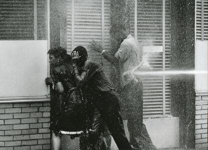 Charles Moore, 'Alabama Fire Department Aims High-Pressure Water Hoses at Civil Rights Demonstrators, Birmingham May 1963', Printed 2007