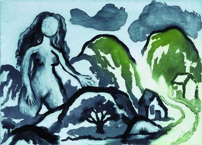 Ken Kiff, 'Woman and Landscape', 1998