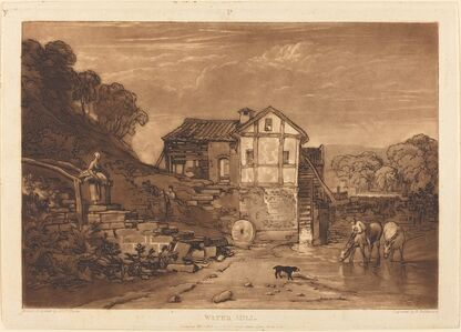Joseph Mallord William Turner and Robert Dunkarton, 'Water Mill', published 1812