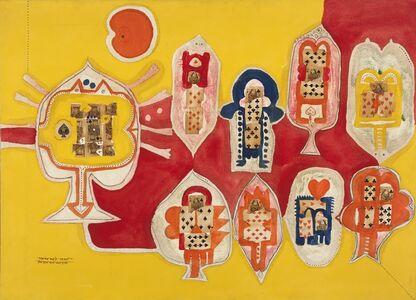 Prabhakar Barwe, 'King and Queen of Spades', 1967