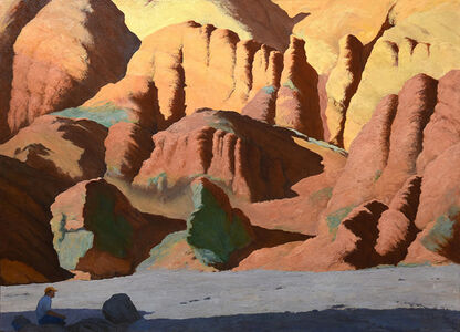 Gregory Frux, 'Death Valley Drawing in Golden Canyon', 2001