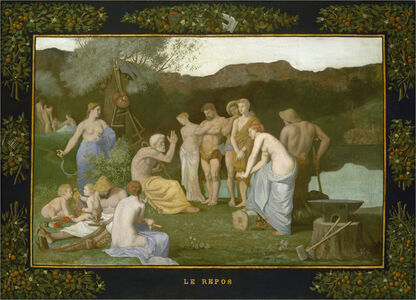 Pierre Puvis de Chavannes, 'Rest', ca. 1863