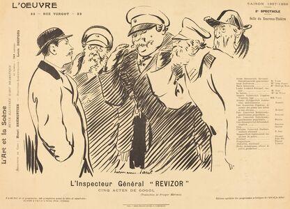 Hermann-Paul, 'L'Inspecteur Général Revizor', 1898
