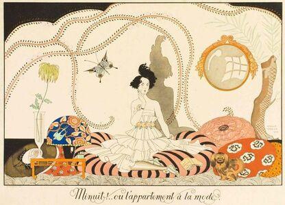 Georges Barbier, 'Minuit!.. ou l'appartement à la mode', 1920s