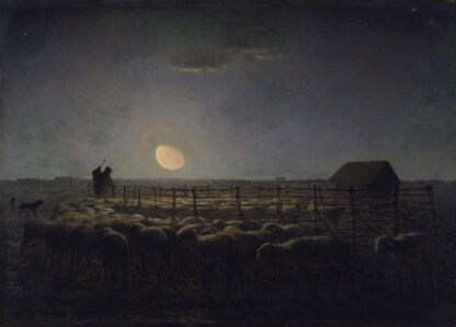 Jean-François Millet, 'The Sheepfold, Moonlight', 1856-1860