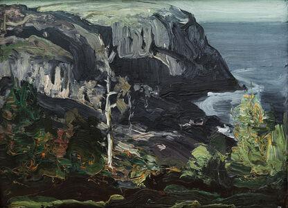 George Wesley Bellows, 'Ocean Headland, Black Head Monhegan', 1911