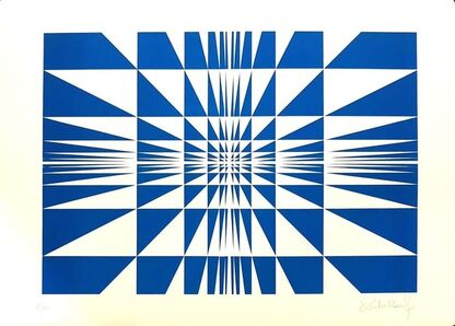 Victor Debach, 'Blue Composition', 1970's