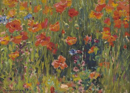 Robert William Vonnoh, 'Poppies', 1888