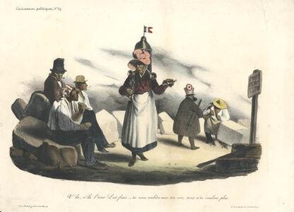 Honoré Daumier, 'V'la, v'la l'coco! il est frais (Here, here's the coconut milk! It's fresh... )', 1833