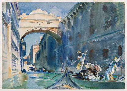 John Singer Sargent, 'The Bridge of Sighs', 1903-1904