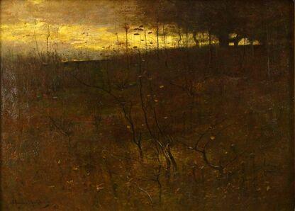 J. Francis Murphy, 'Sunset Hillside', 1882