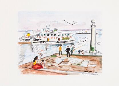 Yves Brayer, 'Cais das Colunas, Lisbon'