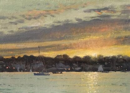 Mark Shasha, 'Last Light at the Harbor', 2019
