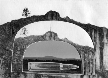 John Wood, 'Gun in Landscape: Butte Landscape', 1965