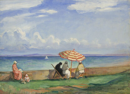 Henri Lebasque, 'Le Parasol, Baie de Douarnenez', 1924