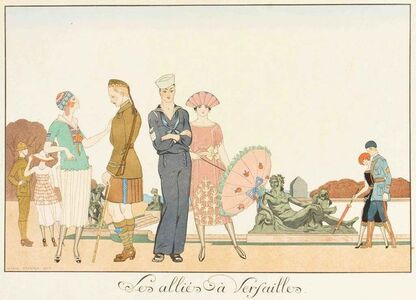 Georges Barbier, 'Les Allies a Versailles', 1920