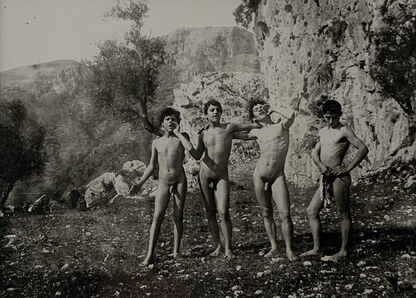 Baron Wilhelm Von Gloedon, 'Untitled (Four Italian Youth at Play)', 1925