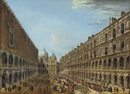 Antonio Joli, 'Procession in the Courtyard of the Ducal Palace, Venice', 1742 or after