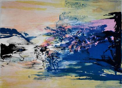 Zao Wou-Ki 趙無極, 'Untitled, from: 12th Anniversary Galeria Joan Prats 1976-88 Portfolio', 1986