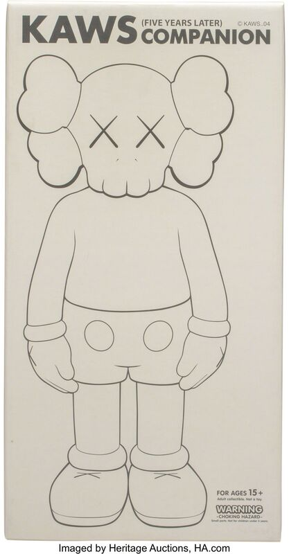 KAWS, 'Five Years Later Companion (Grey)', 2004, Sculpture, Painted cast vinyl, Heritage Auctions