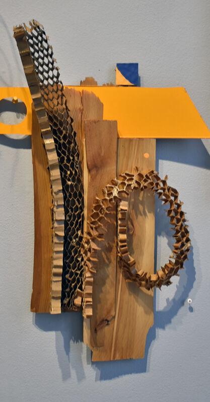 Elisabeth Jacobsen, 'Orange Dot', 2021, Sculpture, Honeycomb Cardboard, Polyacrylic, Carter Burden Gallery