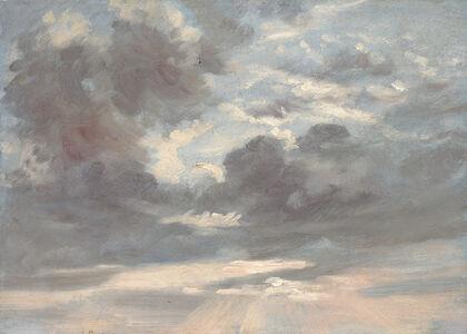 John Constable, 'Cloud Study: Stormy Sunset', 1821-1822