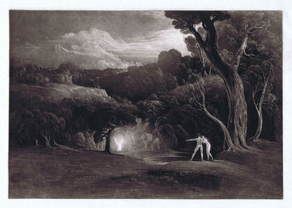 John Martin (1789-1854), 'Paradise - With the Approach of the Archangel Raphael', 1824/25