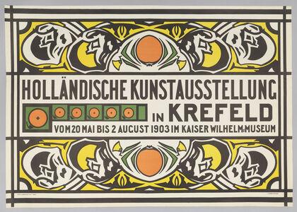 Jan (Johan) Thorn-Prikker, 'Holländische Kunstausstellung (Dutch Art Exhibition in Krefeld)', 1903