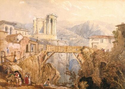 Clarkson Stanfield, 'Tivoli After (William Page)', 1833
