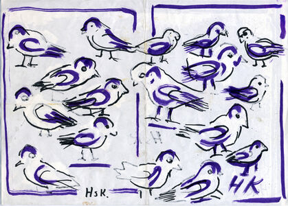 Hans Krüsi, 'Untitled (Blue Birds)', n.d.