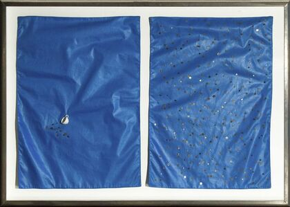 Charles LeDray, 'Untitled (Blue diptych)', 1995