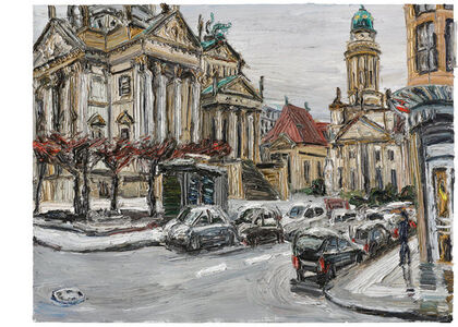 Christopher Lehmpfuhl, 'Wintertag am Gendarmenmarkt', 2015