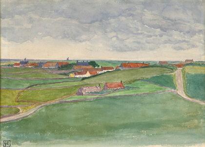 George Copeland Ault, 'Sketch of Framzelle, Pas de Calais, France', 1908