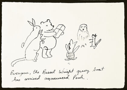 Karen Finley, 'Everyone, the Russell Wright gravy boat has arrived announced Pooh', 1999
