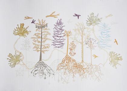 Susan Graham, 'Cell Phone Tree Landscape 1', 2015