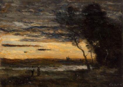 Jean-Baptiste-Camille Corot, 'Le Soir dans La Campagne au Bord de l'Eau', circa 1872