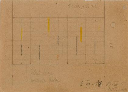 Friedrich Vordemberge-Gildewart, 'Study for Composition No. 210 c. 1958 (D90)', 1957-1958