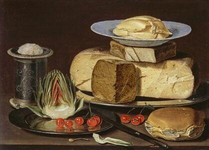 Clara Peeters, 'Still Life with Cheeses, Artichoke, and Cherries', ca. 1625