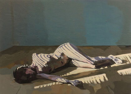 Ingrid Capozzoli Flinn, 'Nude Reclining with Striped Shadow', 2016