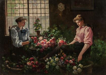 Abbott Fuller Graves, 'Arranging the Flowers'
