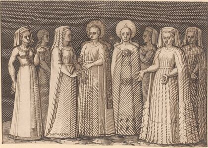 Melchior Lorch, 'Eight Ladies in Ancient Costumes', 1567/1573