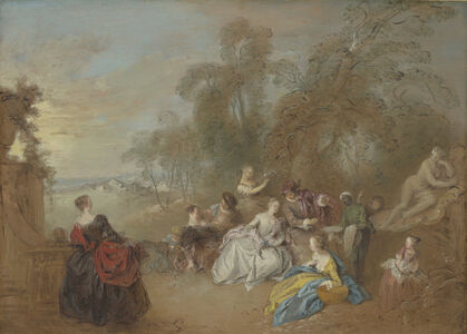 Jean-Baptiste Joseph Pater, 'On the Terrace', ca. 1730/1735