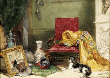 John Frederick Lewis, 'Interior of the Artist's Studio', Executed perhaps about 1834