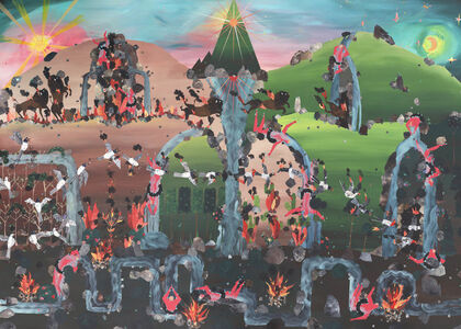 Andrea Joyce Heimer, 'The 1988 Wildfires In Montana Were Caused, In Part, By Unattended Campfires, And Burned All Summer Long Until It Seemed The Whole World Was Aflame', 2019
