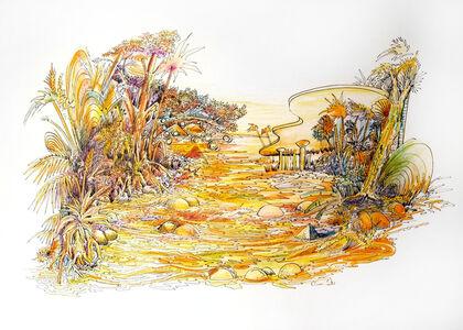 Raúl Recio, 'Los dibujos de la Chapeadora (Drawings of the Gold-digger)', 2015
