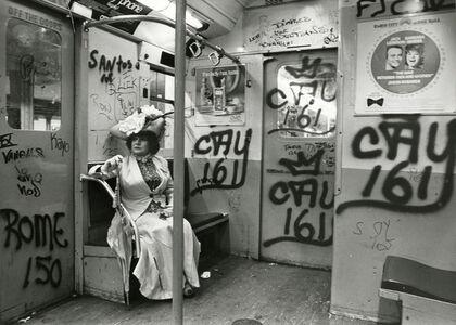 Bill Cunningham, 'Editta Sherman on the Subway', ca. 1968-1976
